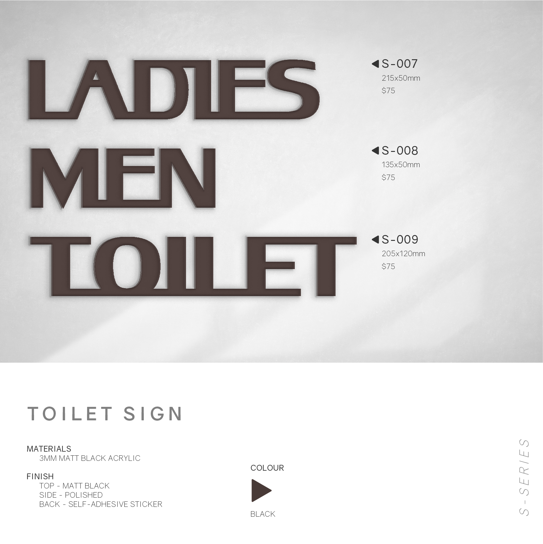 toilet sign text format